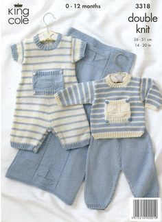 Knitting Patterns Boy Baby Knitting Patterns - lupin and rose Baby Boy Knitting Patterns Free, Knitting For Kids, Baby Patterns, Free Knitting, Loom Knitting, Stitch Patterns, Baby Dungarees, Baby Pullover, Knitted Baby Clothes