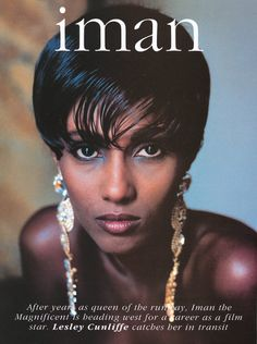 marcusblaque:Iman by Helmut Newton for Vogue US.