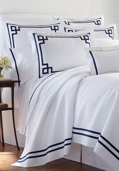Hand embroidered bed linens by Léron. View all of our custom hand embroidered sheets and contact us to find out more.