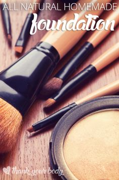 All natural homemade foundation: So easy to make so make your face happy. #homemade #makeup #foundation