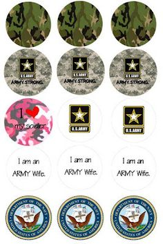 Free Bottle Cap Images: Free US Army Bottle Cap images