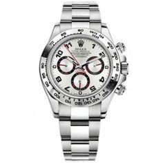 Replique Rolex Daytona cadran en argent arabe Oyster Bracelet or blanc 18 carats 116509SAO