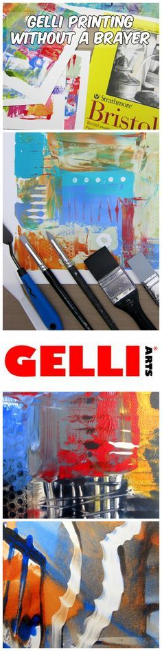 Instead of using a brayer to apply paint to the Gelli® plate, let's change it up and use a palette knife and various scrapers! Applying paint to your Gelli plate using alternative tools—such as a palette knife, old credit card or a smooth silicone scraper—gives you the opportunity to make unique marks.