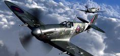 De Supermarine Spitfire was een Brits jachtvliegtuig. Het vliegtuig is vooral bekend door de beslissende rol die het speelde tijdens de Slag om Engeland.