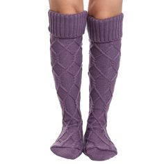 eshion Warm Women Knitted Crochet Thigh-Highs Boot Stockings Over Knee(Beige) Women's Over The Knee Boots, Thigh High Boots, Long Boots, Women's Boots, Boot Socks, Thigh Highs, Fashion Brands, Knit Crochet, Topshop