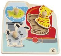 Knoppuslespil - Kat, hund & fisk