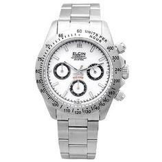 Tissot Ladies Watches - ELGIN エルジン クロノグラフ FK1059S-W   最新の時間センター