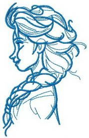 Elsa sketch 3 machine embroidery design. Machine embroidery design. www.embroideres.com
