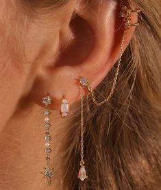 Pretty Ear Piercings, Ear Peircings, Ear Piercings Tragus, Tongue Piercings, Infected Ear Piercing, Unique Piercings, Different Ear Piercings, Ear Jewelry, Cute Jewelry