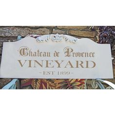 Chateau De Provence Vineyard Stencil 5 Sizes Available Create... ($17) ❤ liked on Polyvore featuring home, home decor, wall art, grey, home & living, home décor, outside signs, outside home decor, hand signs and outdoor signs
