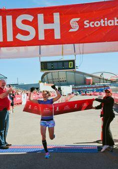Fry Winning the Calgary Marathon