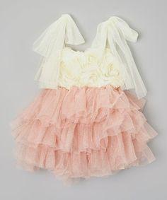 Kid Swag Pink Rosette Sparkle Tutu Dress - Toddler & Girls by Kid Swag #zulily #zulilyfinds