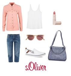 """Без названия #2"" by lisarare on Polyvore featuring мода, Lipstick Queen и Oliver Peoples"