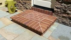 Image result for brick & stone door steps Front Door Steps, Brick And Stone, Front Porch, Tiles, Doors, Image, Furniture, Garden, Home Decor