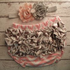 Pink Chevron with Gray Chevron Ruffle Bum by SassySweetPeaDesigns, $17.99- Baby Jones