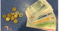 Materiales para trabajar el Euro. Parte 1 #OcupaTEA Euro, Math, Blog, Occupational Therapy, Special Education, Coins, Math Resources, Blogging