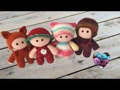 Amigurumi Poupons YOYO crochet partie 2/2 / YOYO mini dolls crochet amigurumi (english subtitles) - YouTube