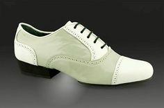 2x4 al pie Boedo Charol Gris y Blanco - Men's Tango Shoes