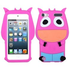 Insten Hot / Light Blue 3D Cow Silicone Skin Gel Rubber Case Cover For Apple iPod Touch 5th/ 6th Gen #1128828