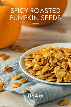 Not only do they taste great, but pumpkin seeds have been used for centuries for their anti-parasitic effects. Plus, they're a rich source of fiber, vitamins and minerals. Raw Pumpkin Seeds, Roasted Pumpkin Seeds, Decrease Appetite, Improve Gut Health, Pumpkin Seed Recipes, Minerals, Breakfast Recipes, Spicy, Vitamins