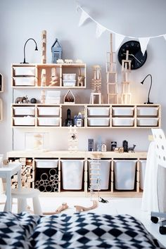 IKEA TROFAST storage combinations are a playful and sturdy storage series for storing and organizing toys. The low storage makes it easier for children to reach and organize their things.