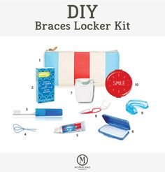 Back to school with braces the backpack or locker necessities diy braces locker kit this is the perfect diy kit for students going back to school solutioingenieria Images