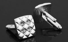 Silver & Crystals Cufflinks