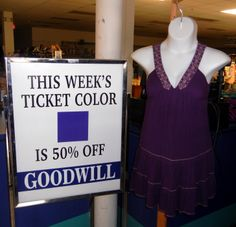Shop for purple tags 6/15-6/21 http://www.goodwillwny.org/