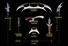 Klingon Weapons--I need these...for killin zombies!