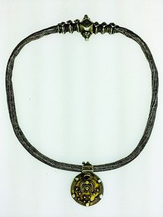 Vintage silver tribal necklace