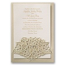 Freshly Cut Flowers Laser Cut Wedding Invitation