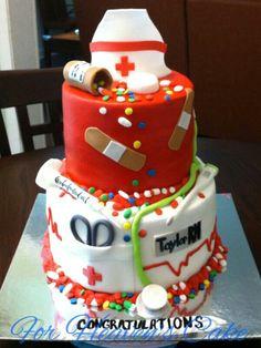 A nurse graduation cake.