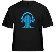 Digital Headphone Sound Responsive Equalizer Rave T-Shirt With Sound Sensor. Price $24.99
