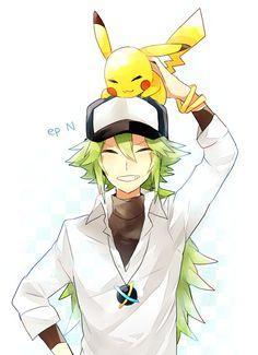 Tags: Anime, Pokémon, Pixiv, Pikachu, N (Pokémon)