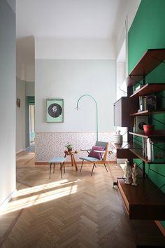 Un apartamento en Milán con una decoración muy natural #Milano #apartments
