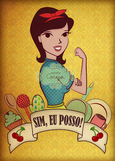 Pôster Sim, eu posso! Little Girl Rooms, Girl Power, Vintage Posters, Art Quotes, Pop Art, Pin Up, Lettering, Wallpaper, Words