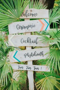 Shooting d'inspiration mariage tropical et coloré en mode Californie Party…