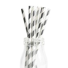 Andaz Press Silver Foil Striped Straws 50Pack Shiny Metallic Colored Anniversary Wedding Birthday Baby Shower Party Supplies Decorations * Visit the image link for more details. #AnniversaryGift Baby Shower Party Supplies, Baby Shower Parties, Straws, Anniversary Gifts, Metallic, Year Anniversary Gifts, Gifts For Wedding Anniversary, Birthday Gifts, Anniversary Favors