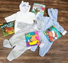 Warm Fuzzy Footies and Indestructible books...just restocked!