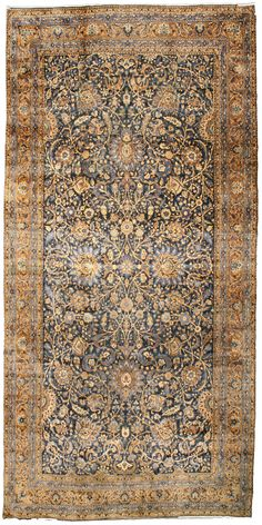 Antique Persian Kirman Rug - Best Rugs - Ideas of Best Rugs - Antique Rug Persian Carpet with floral ornaments. Interior living room decor with century antique rugs hand knotted wool Hallway Carpet Runners, Cheap Carpet Runners, Diy Carpet, Rugs On Carpet, Hall Carpet, Persian Carpet, Persian Rug, Rope Rug, Carpet Shops