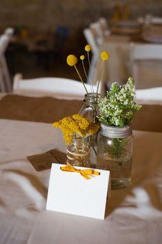 flowers mason jars