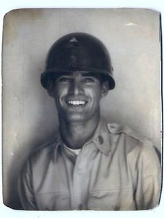 """Vintage photo of handsome soldier goes viral: """"When Derek Schwendeman of Newark, Delaware, posted a photo of his grandfather to Reddit last week, he had no clue the now 86-year-old would draw a legion of admirers. But the picture, which is captioned, 'My grandfather in 1950 before deploying to Korea,' has amassed almost 3 million views and a variety of passionate comments."""""""