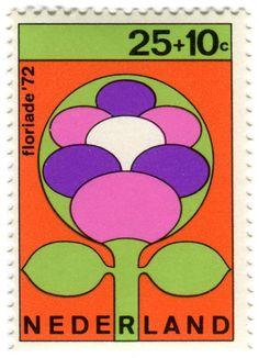 Netherlands postage stamp: Floriade '72 flower
