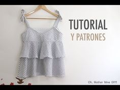 Costura: Blusa con volantes para mujer (patrones gratis), a family post from the blog Oh, Mother Mine DIY!! - YouTube on Bloglovin'