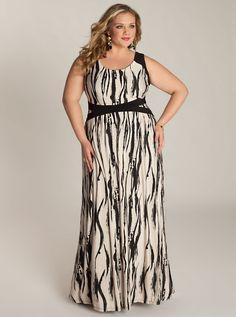 Elysia plus size maxi dress