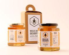 Packaging Creativo para Miel: Mieles del Desierto || Diseñado por: Juan José Marnetti, Argentina