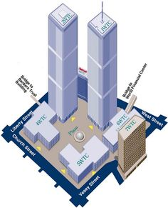 WTC - Drawing of the WTC complex.