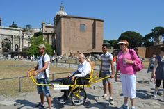 Colosseum and Imperial Forums Excursion with TREKKY, the special wheelchair to make ACCESSIBLE the INACCESSIBLE sites!