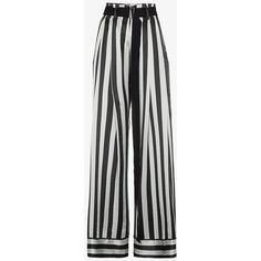 Ann Demeulemeester Striped Palazzo Pants (319.860 HUF) ❤ liked on Polyvore featuring pants, green, striped wide leg pants, green palazzo pants, striped pants, stripe pants and high-waisted pants