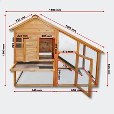 Building a Chicken Coop poulailler clapier 525 pour 1 a 3 poules ou rongeurs ou autre en èpicèa Building a chicken coop does not have to be tricky nor does it have to set you back a ton of scratch. #ChickenCoopPlans